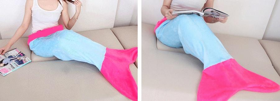 Giyilebilir özel tasarım deniz kızı battaniyesi
