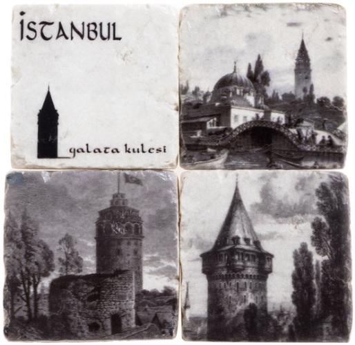 Bardak Altlığı : İstanbul Galata Kulesi