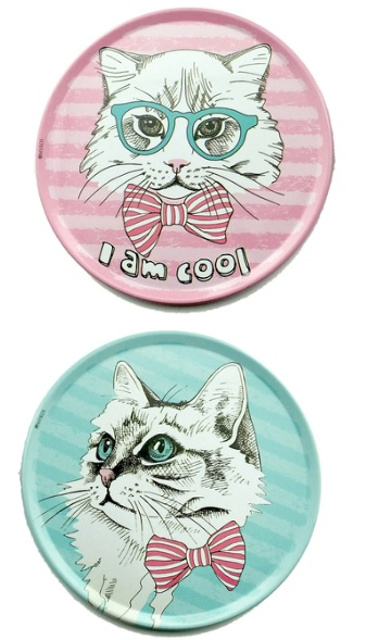Bardak Altlığı : Kedi Figürlü