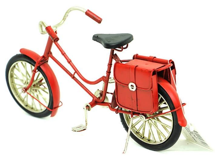 Biblolar : Dekoratif Metal Çantalı Bisiklet Biblo Modeli