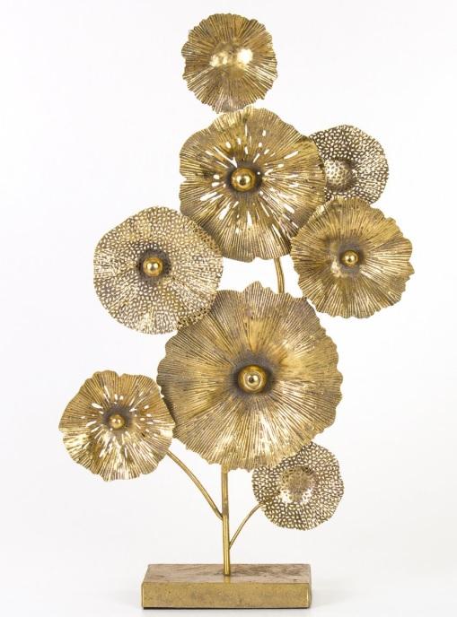 Biblolar :Dekoratif Metal Çiçekler Biblo Modeli