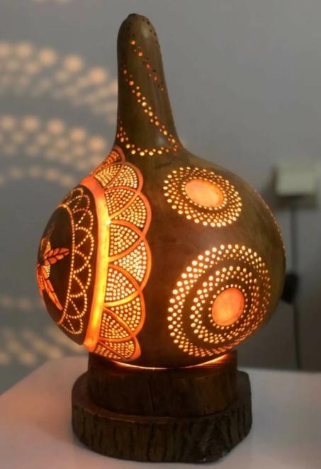 İşlemeli Dekoratif Muhteşem Gece Lambası