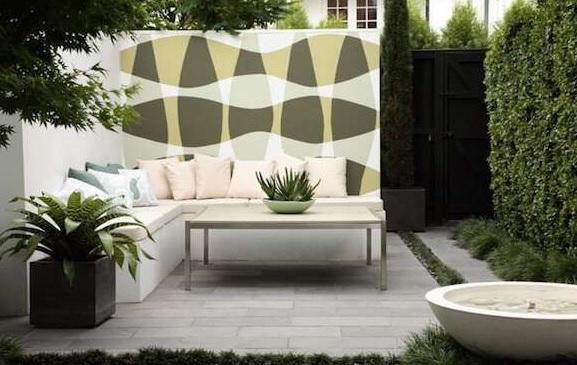 Modern bahçe dekorasyonu küçük bahçe