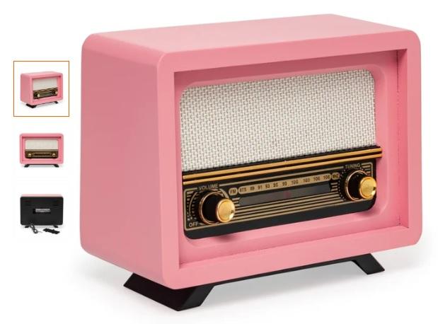 Pembe Renk Dekoratif Nostaljik Radyo