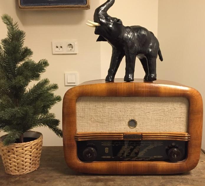 Retro Ahşap Dekoratif Nostaljik Radyo