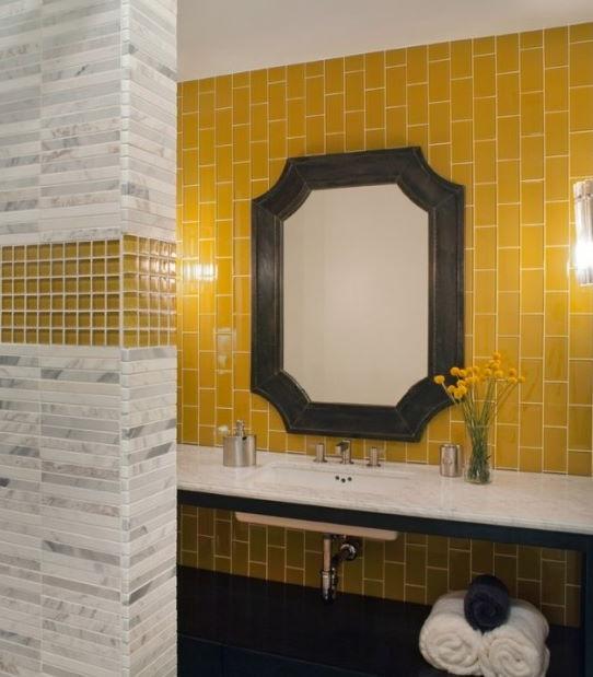 Sarı Banyo Dekorasyonu Fikirleri
