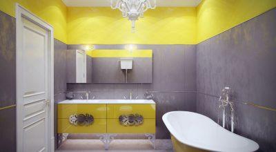 Sarı Banyo Dekorasyonu İle Pozitif Hava