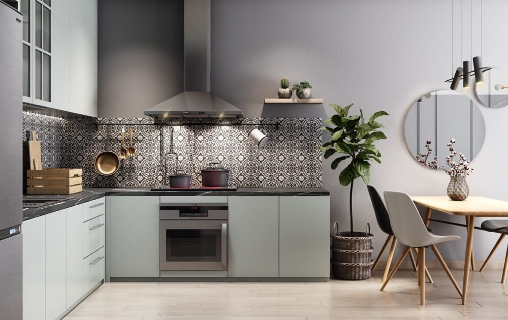 L Shaped Kitchen Decoration